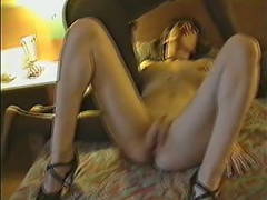 Playful French wife munches on a big black penis