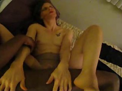 Desirable wife lets this black dude creampie her pussy