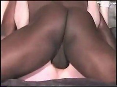 Husband gets sucked by his wife then watched her fuck a BBC