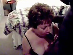 Old woman gets her saggy vagina busted with a black schlong