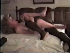 Mature white whore pushing herself onto a massive black cock