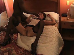 Bald mature black guy pounds this slutty wife and tapes it