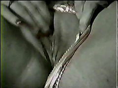 White bitch turns masturbating into black cock fucking