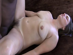 Milky skinned wife drilled by a massive 9 inch black cock