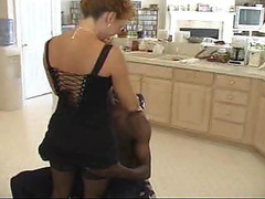 Red haired housewife gets a taste of black meat