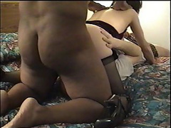 Slim wife has her holes busted in a hot threesome