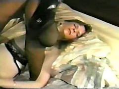Dirty woman has her face washed after sex with hot cum