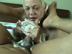 Mature blonde adds extra flavor to a black cock