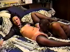Horny mom sucking lover's BBC and swallowing seed
