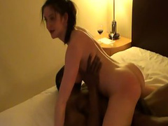 Babe pounded many ways by BBC and seeded as hubby films